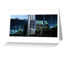 Reflecting On New & Old Architecture Greeting Card