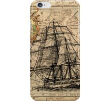 Old ship map  iPhone Case/Skin