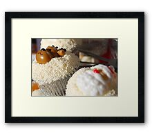 Christmas Cup Cakes Framed Print