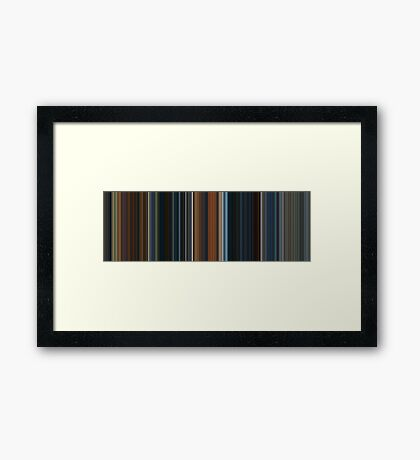 Moviebarcode: The Lord of the Rings: The Fellowship of the Ring (2001) [Simplified Colors] Framed Print