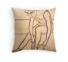 Dancer Study #1 Throw Pillow