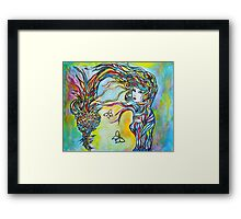 Threads Framed Print