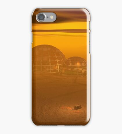 Domed city on an alien planet iPhone Case/Skin