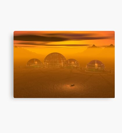 Domed city on an alien planet Canvas Print