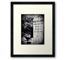 Graveside Vigil Framed Print