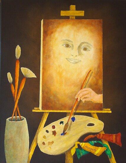 Self-Portrait In Progress by Allegretto