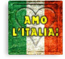 Amo Italia Canvas Print