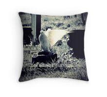 White Wings Throw Pillow