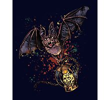 Scary Halloween bat Photographic Print