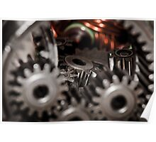 Gears with Armature Macro Poster