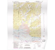 USGS Topo Map Washington Rosburg 243516 1949 24000 Poster