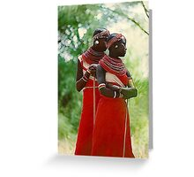Samburu Girls, Kenya Greeting Card