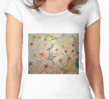 ABUNDANT ROSES Women's Fitted Scoop T-Shirt