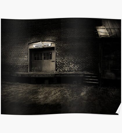 Antique Loading Dock in Black and White Poster