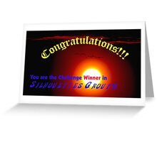 Silhouettes  Challenge winner Banner Greeting Card