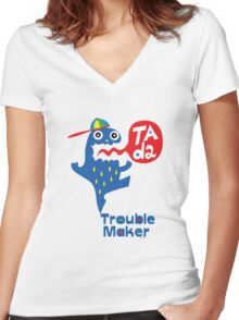 Trouble Maker- Ta Da Women's Fitted V-Neck T-Shirt