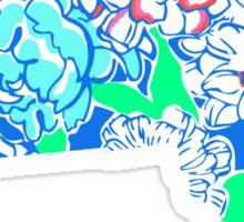 Lilly States - Massachusetts Sticker