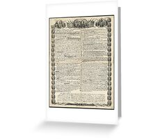 First Draft of the Declaration of Independence by Kurz & Allison Greeting Card