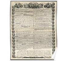 First Draft of the Declaration of Independence by Kurz & Allison Poster