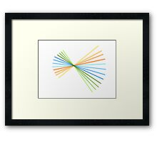 Colour Spiral Framed Print