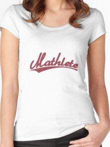 Mathlete sports inspired Women's Fitted Scoop T-Shirt