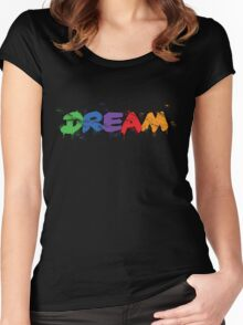 graffiti dream Women's Fitted Scoop T-Shirt