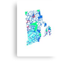 Lilly States - Rhode Island Canvas Print