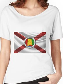 Alabama State Seal over State Flag Women's Relaxed Fit T-Shirt