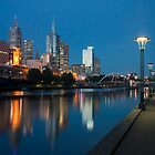Melbourne at the Yarra River by Timo Balk