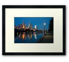 Melbourne at the Yarra River Framed Print