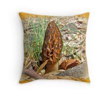 Morel Mushroom - Hardwood Forest Green Lane PA Throw Pillow