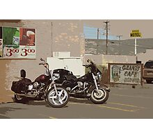 Route 66 Motorcycles with a Dry Brush Effect Photographic Print