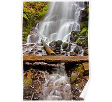 Fairy Falls Footbridge - Columbia River Gorge - Oregon. Poster