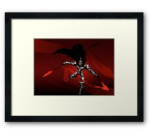 The Black King-Knight's Pawn Framed Print