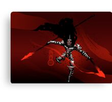 The Black King-Knight's Pawn Canvas Print
