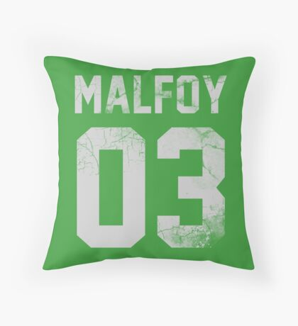 Malfoy jersey Throw Pillow