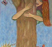 Hug a Tree for Earth Day!  by Sherryll  Johnson