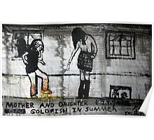 Mother and Daughter Dancing on Goldfish in Summer, 2011, Acrylic on Paper, Justin Curfman Poster