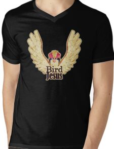 BIRD JESUS Mens V-Neck T-Shirt