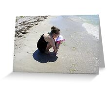 Mommy and Baby at the beach Greeting Card