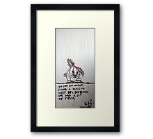 Rabbit with My Mother's Ear Rings, 2011, Arcylic on Paper, Justin Curfman Framed Print
