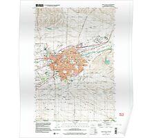 USGS Topo Map Washington Walla Walla 244516 1998 24000 Poster