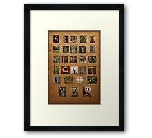Alphabet Again Framed Print