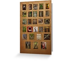 Alphabet Again Greeting Card