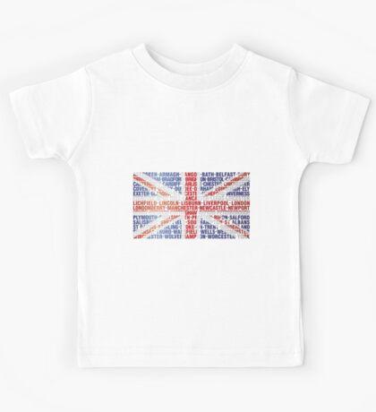 UK CITY NAMES FLAG Kids Tee