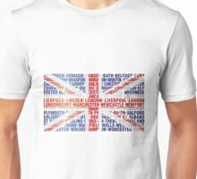 UK CITY NAMES FLAG Unisex T-Shirt