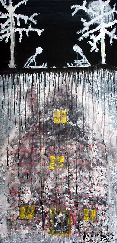 My Father's Secret House is Alive Under Leaves, 2011, Acrylic on Paper, Justin Curfman by Tephramedia