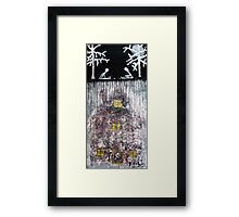 My Father's Secret House is Alive Under Leaves, 2011, Acrylic on Paper, Justin Curfman Framed Print