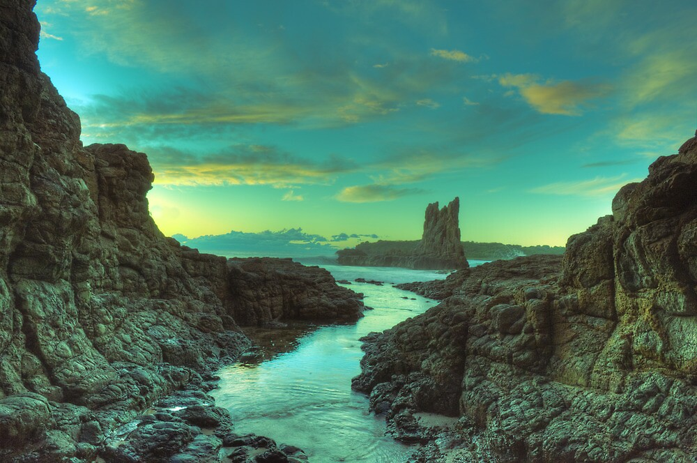 Cathedral Rocks at Dawn by Darcy Moore