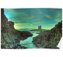 Cathedral Rocks at Dawn Poster